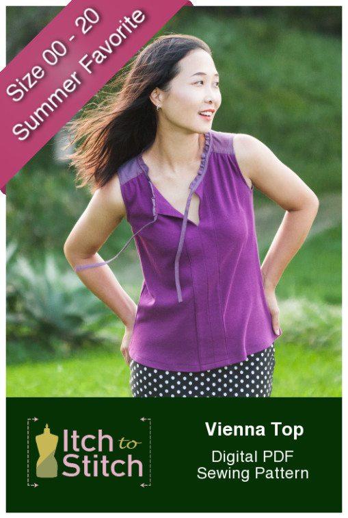 Itch to Stitch Vienna Tank PDF Sewing Pattern Product Photo
