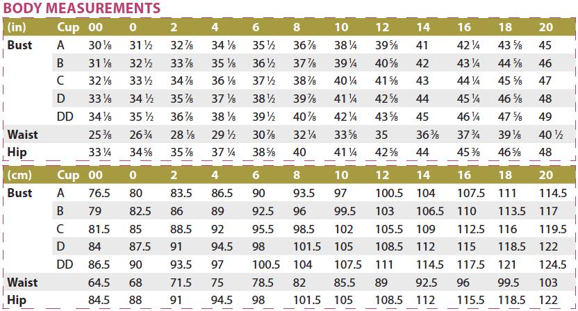 Bonn Shirt & Dress PDF Sewing Pattern Body Measurements