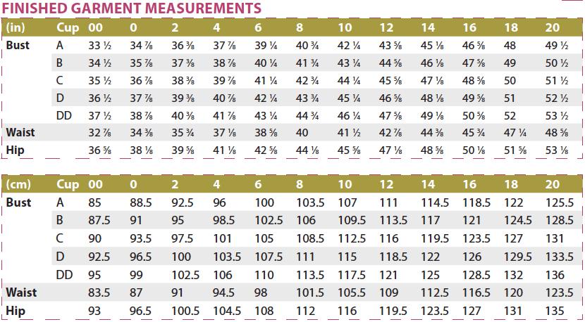 Bonn Shirt & Dress PDF Sewing Pattern Body Measurements Finished Measurements
