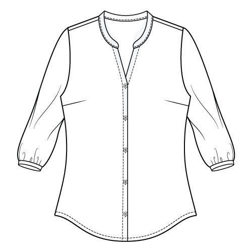 Bonn Shirt & Dress PDF Sewing Pattern - 3/4 Sleeve