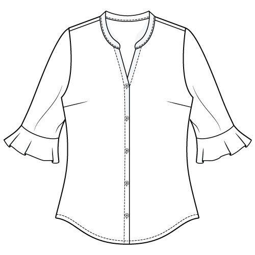 Bonn Shirt & Dress PDF Sewing Pattern - flare Sleeve