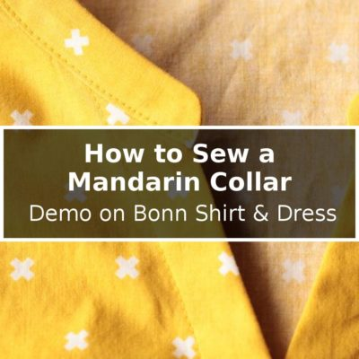 How to Sew a Mandarin Collar