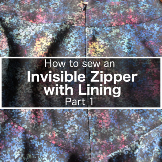 How to sew an invisible zipper with lining
