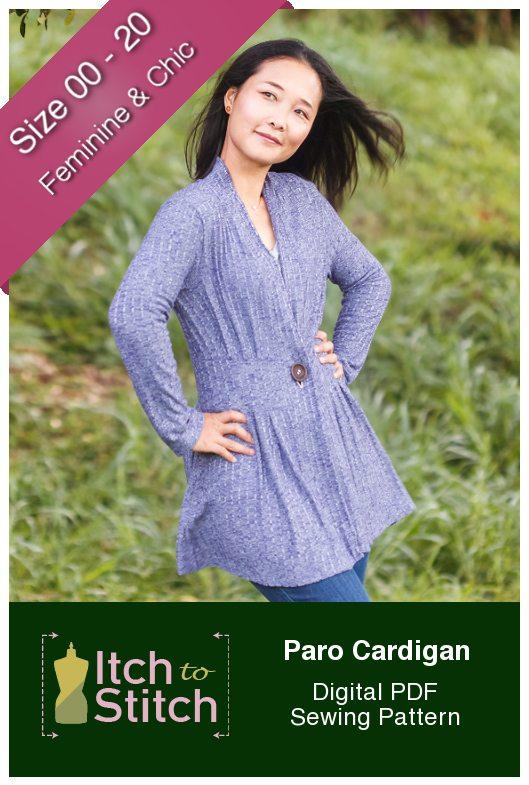 Itch to Stitch Paro Cardigan PDF Sewing Pattern
