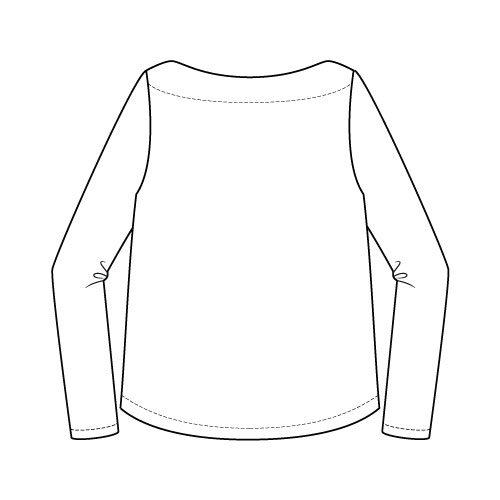 Newport Top Sewing Pattern Regular Long Sleeve Option - Back
