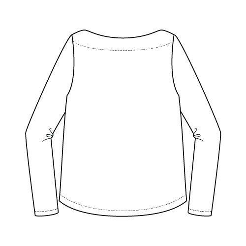 Newport Top Sewing Pattern Regular Long Sleeve Option - Back