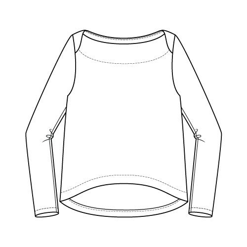 Newport Top Sewing Pattern Regular Long Sleeve Option - Front