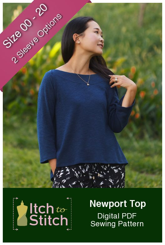 Itch to Stitch Newport Top PDF Sewing Pattern