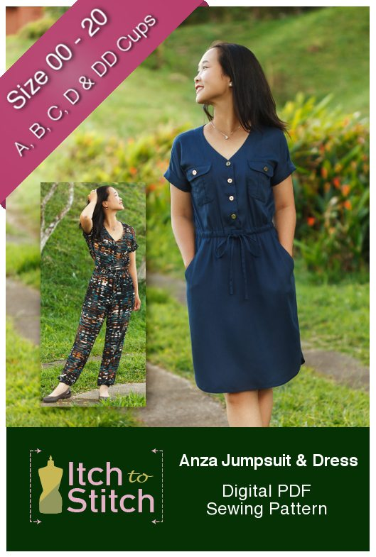 Itch to Stitch Anza Jumpsuit & Dress Sewing Pattern
