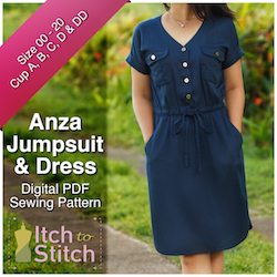 Anza Jumpsuit & Dress PDF Sewing Pattern