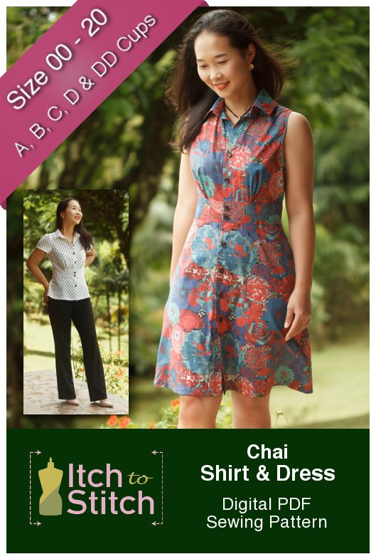 Itch to Stitch Chai Shirt & Dress PDF Sewing Pattern