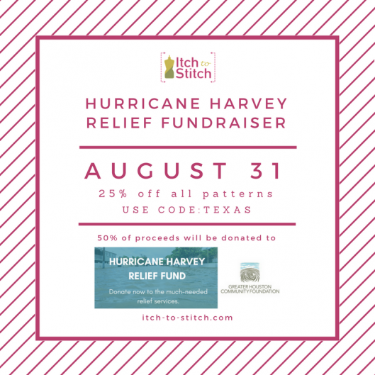 Itch to Stitch Hurricane Harvey relief fundraiser - August 31 2017