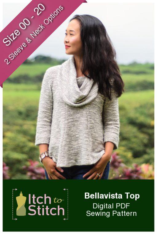 Itch to Stitch Bellavista Top PDF Sewing Pattern