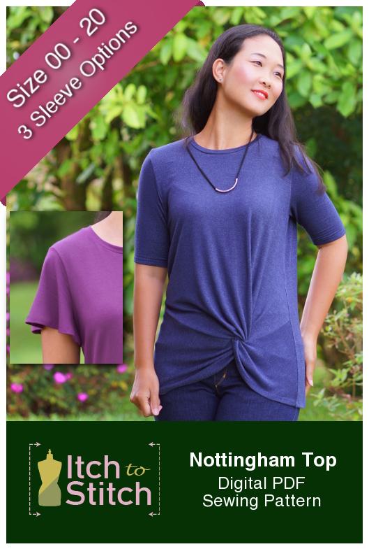 Itch to Stitch Nottingham Top PDF Sewing Pattern