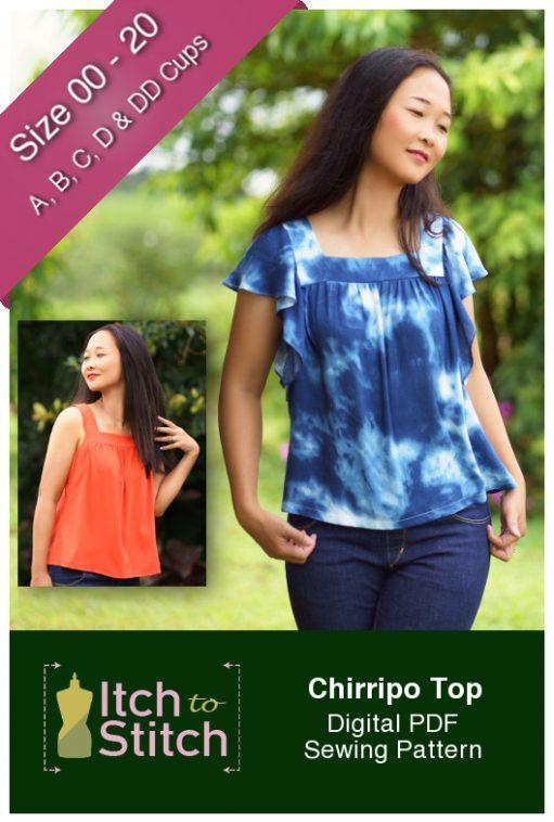 Itch to Stitch Chirripo Top PDF Sewing Pattern
