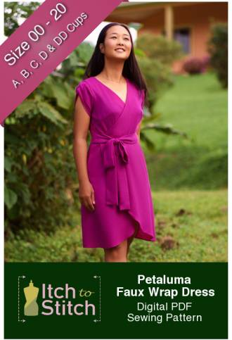 Itch to Stitch Petaluma Faux Wrap Dress PDF Sewing Pattern