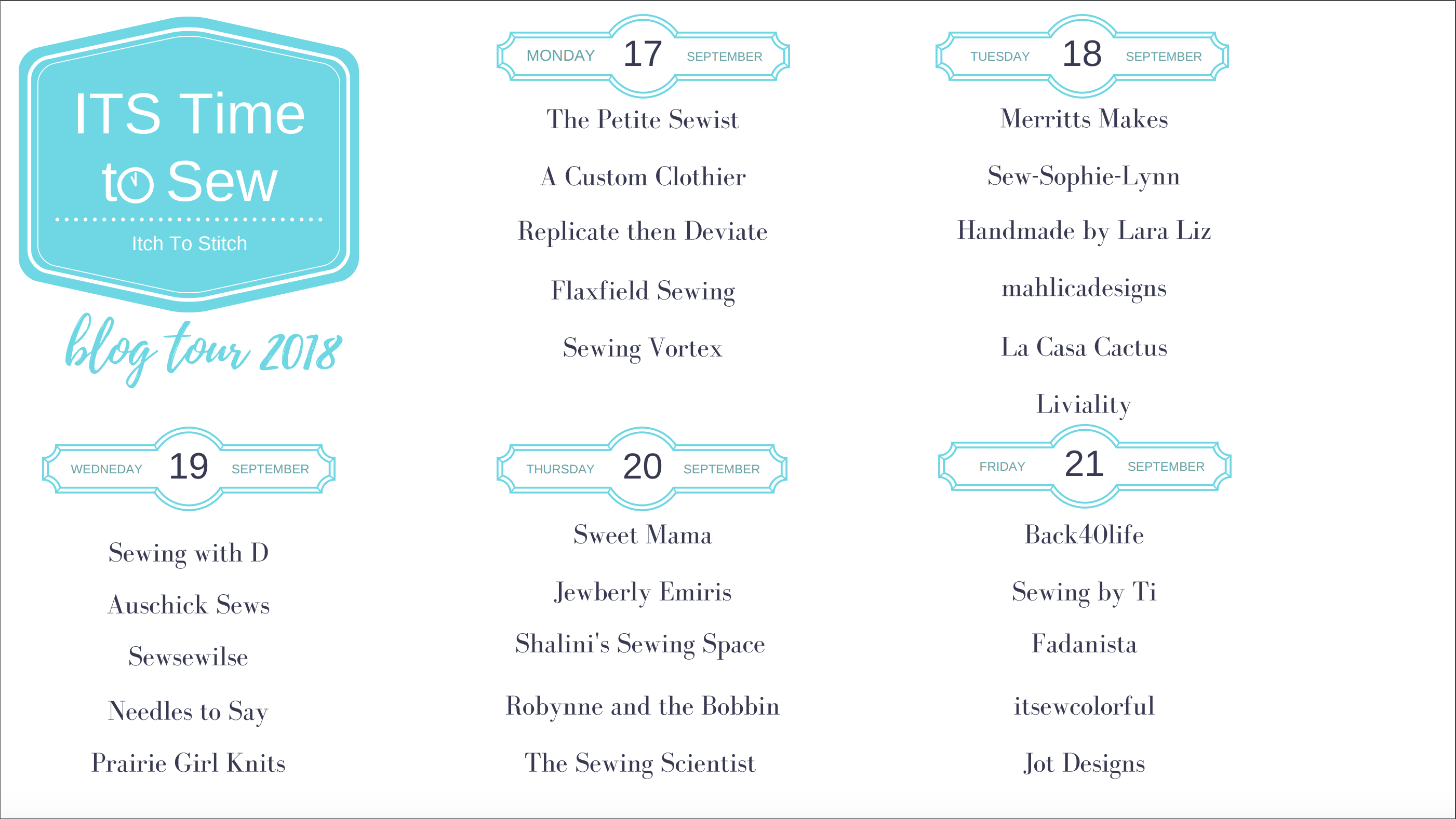 Itch to Stitch ITS Time to Sew Blog Tour