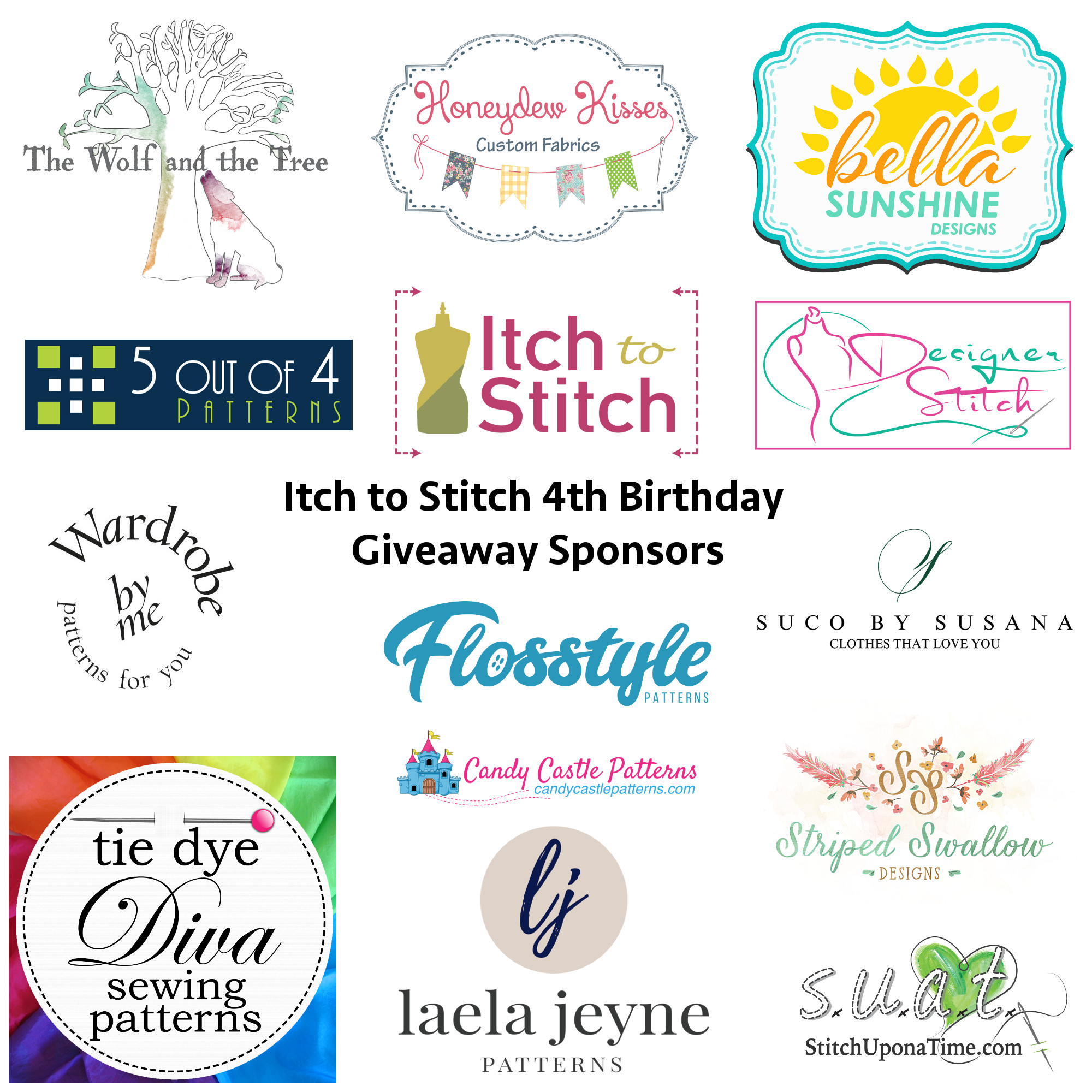 Itch to Stitch Birthday Prize Sponsors