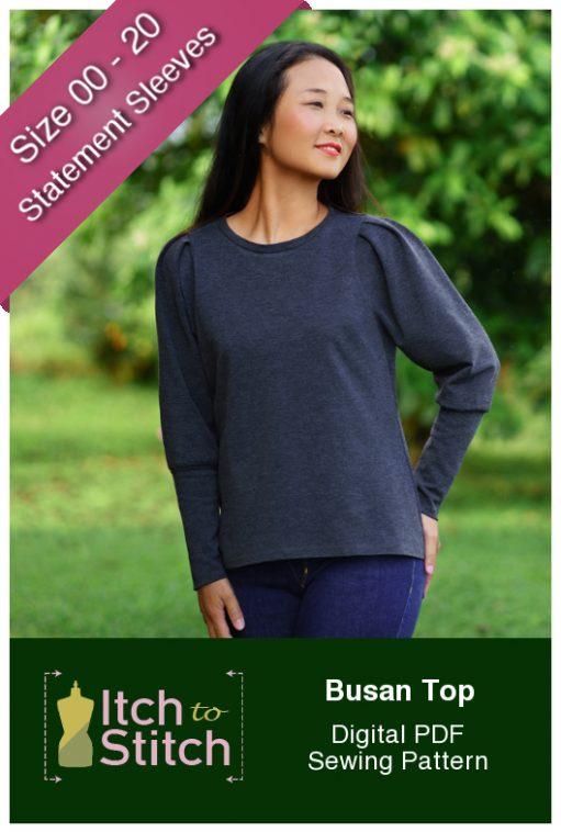 Itch to Stitch Busan Top PDF Sewing Pattern