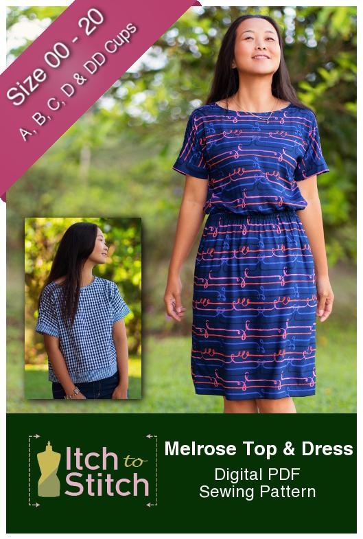 8122f0154 Melrose Top & Dress Digital Sewing Pattern (PDF) - Itch To Stitch