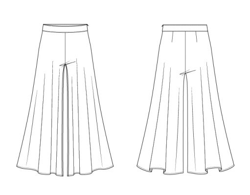 Itch to Stitch Samara Pants PDF Sewing Pattern Line Drawings