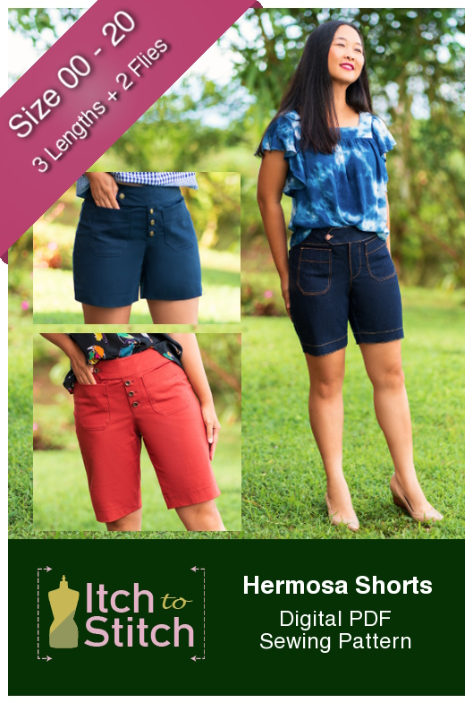 Itch to Stitch Hermosa Shorts PDF Sewing Pattern