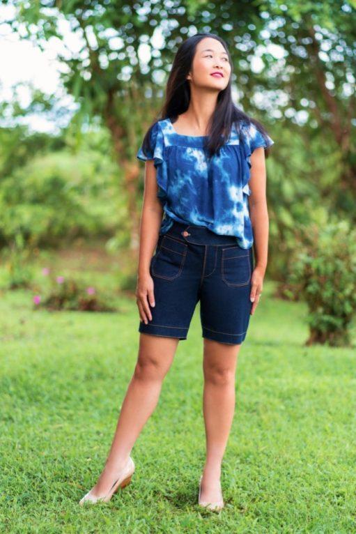 Itch to Stitch Hermosa Shorts PDF Sewing Pattern Medium Length 2