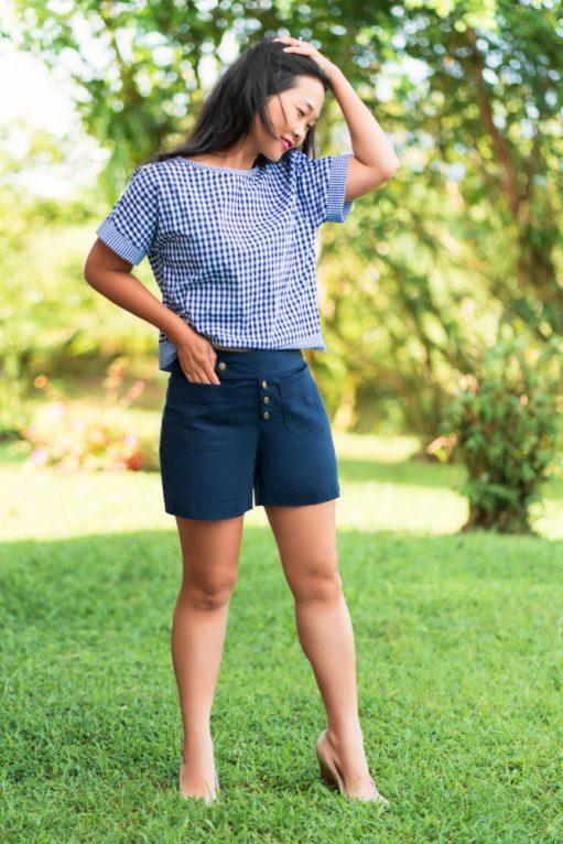 Itch to Stitch Hermosa Shorts PDF Sewing Pattern Short Length 1