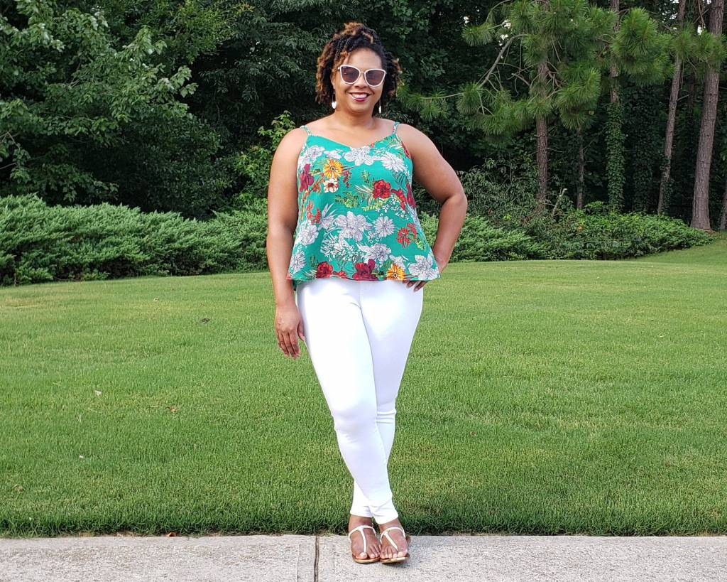 Itch to Stitch Make It Wear It Blog Series Crystal Cove Cami + Mountain View Pull-on Jeans Tiffany
