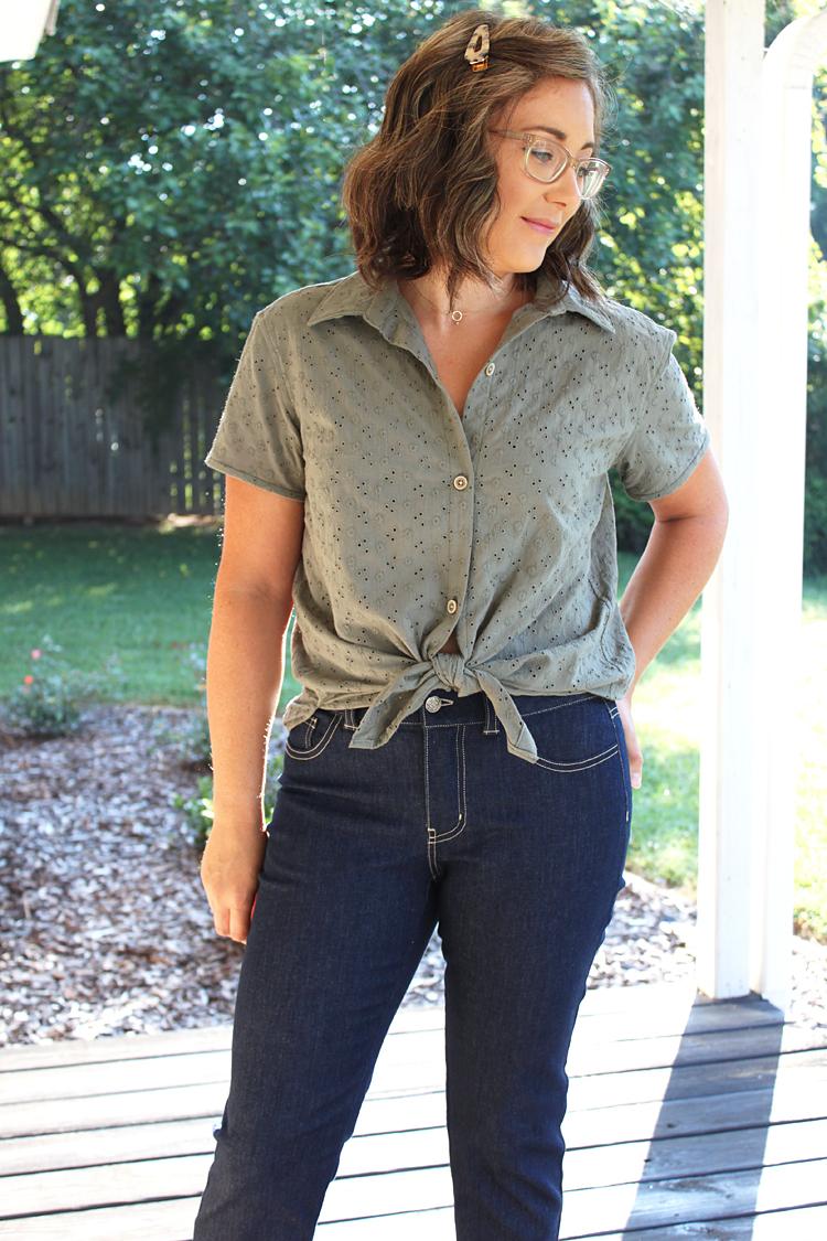 Itch to Stitch Make It Wear It Montana Shirt Heidi