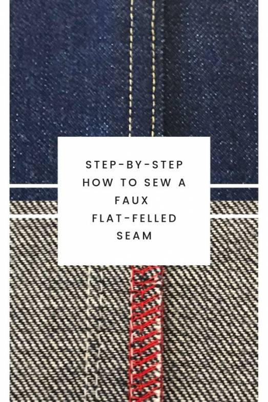 Step by Step how to sew a faux flat-felled seam