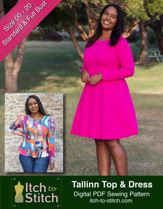 Itch to Stitch Tallinn Top & Dress Dress Sewing Pattern