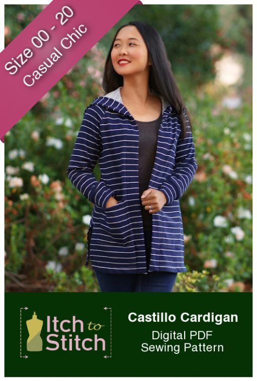 Itch to Stitch Castillo Cardigan PDF Sewing Pattern