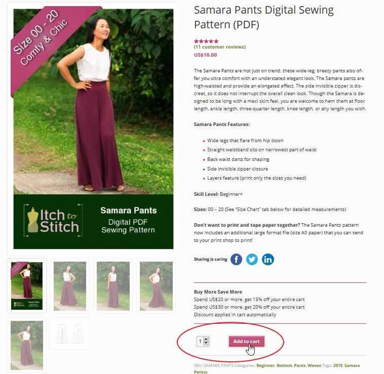 How to buy, download & assemble PDF patterns