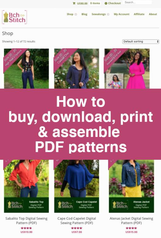 How to buy download print assemble pdf patterns