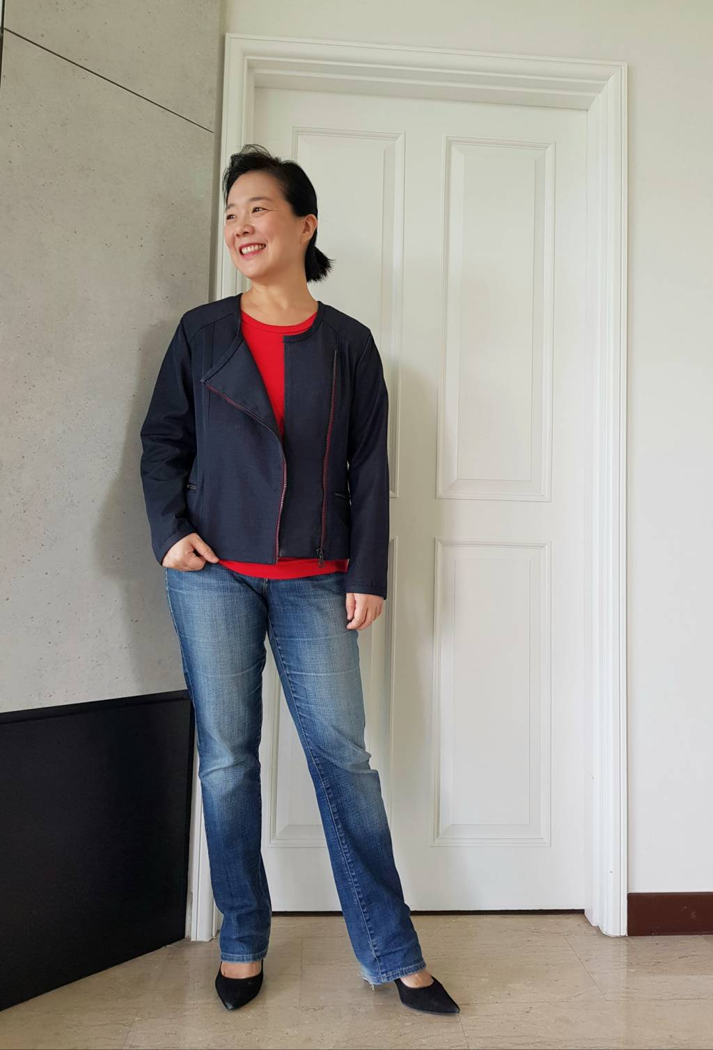 Jump pleat on Itch to Stitch Cerro Alto Jacket Sewing Pattern