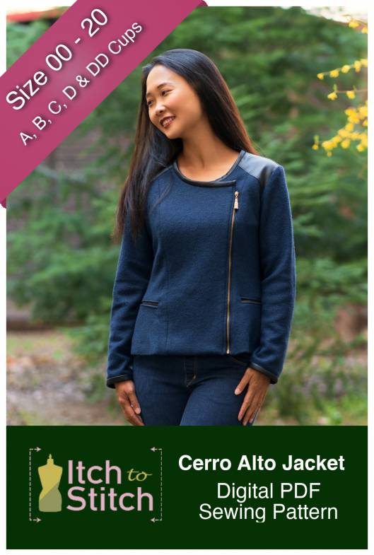 Itch to Stitch Cerro Alto Jacket PDF Sewing Pattern