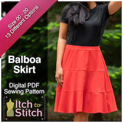 Balboa Skirt PDF Sewing Pattern