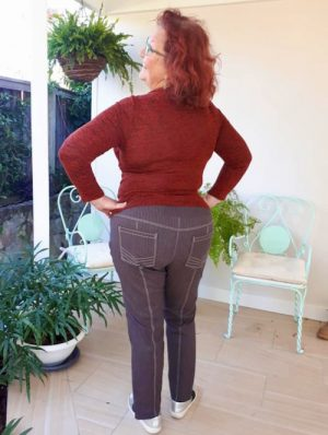 Itch to Stitch Mountain View Pull-on Jeans PDF Sewing Pattern Sizes 22 to 40