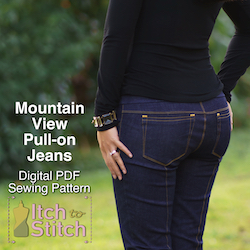 Moutnain View Pull-on Jeans PDF Sewing Pattern