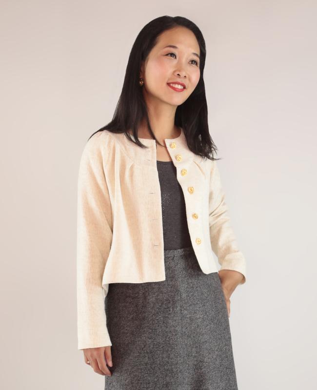 Itch to Stitch Salamana Cropped Jacket PDF Sewing Pattern