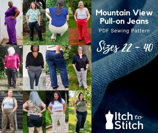 Mountain view pull-on jeans