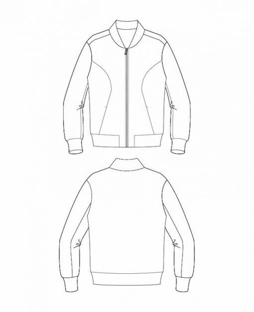 Itch to Stitch Causeway Bomber PDF Sewing Pattern Line Drawings