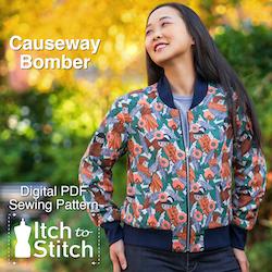 Causeway Bomber PDF Sewing Pattern