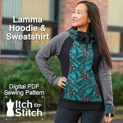 Lamma Hoodie & Sweatshirt PDF Sewing Pattern