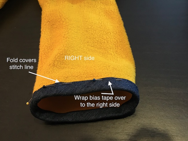 How to Finish Bias Binding in the Round
