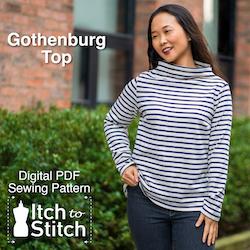 Gothenburg Top PDF Sewing Pattern