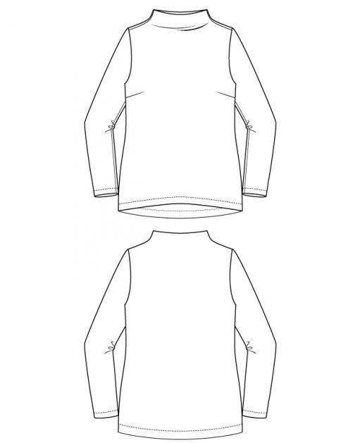 Itch to Stitch Gothenburg Top PDF Sewing Pattern Line Drawings